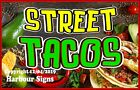 Street Tacos DECAL (Choose Your Size) Food Truck Concession Vinyl Sign Sticker