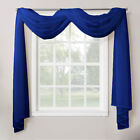 1 Piece Sheer Voile Window Home Decor Fully Hemmed Scarf Valance Swag Topper