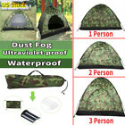 Outdoor Camping Waterproof 1/2/3-4 Person Folding Tent 4Season Camouflage Hiking