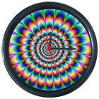 295037 Multicolor 3D Optical Illusions Psychedelic Wall Clock