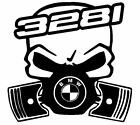 calavera bmw serie 3 328i etc tuning sticker auto fun pegatinas racing