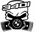 calavera bmw serie 3 340i etc tuning sticker auto fun pegatinas racing