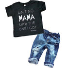 Kyпить US Toddler Kids Baby Boys Girls Clothes T-shirt Tops + Denim Jeans Pants Outfits на еВаy.соm