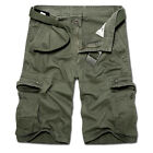 Mens Military Army Cargo Shorts Long Pants Tactical Casual Sport Combat Trousers