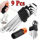 9x Allen Wrench Set Extra-long arm Hexagon Wrenches w/ Ball hex keys...