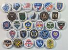 "MLS Soccer Team Logos 27 1 1/4"" Buttons or Magnets for Standings Boards"