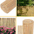4m Slatted Bamboo Fence Screening Roll Natural - Slat Panel Privacy Garden Penal