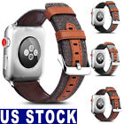 For Apple Watch Band Strap Wrist Leather Fabric iWatch 42mm/38mm Series 3/2/1 image