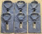 Van Heusen Dress Shirt Mens Wrinkle Free Long Sleeve Fitted Blue *Choose Size*