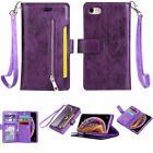 Magnetic-Zipper-Card-Wallet-Leather-Flip-Holder-Stand-Case-Cover-For-Cell-Phone