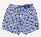 POLO RALPH LAUREN MEN CLASSIC BOXER SHORTS RED BLUE PURPLE PLAID PRINTED PONY