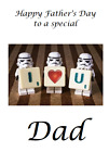 PERSONALISED GREETINGS CARD FATHERS DAY DAD 1ST DADDY DISNEY STAR WARS #1