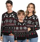 Hawiton Family Matching Ugly Xmas Sweaters Long Sleeve Christmas Reindeer Sweate