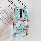 For Xiaomi Redmi Note 8 Pro 7 6 5 Geometry Marble Silicone Pattern Case Cover