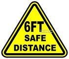 6 ft Safe Distance VINYL DECAL Choose Size Business Truck Concession Sticker