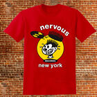 Nervous Records T-shirt 90's new york hip hop rap House Music Red / White Tee image