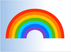 Rainbow Coloured Window Sticker Poster A4 A5 Or A6 Sheet Follow The Rainbow