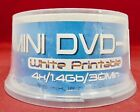 World Disc White Printable Mini Discs 4X/1.4GB/30Min DVD-R 25-Pack