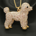 Fashion Jewelry Cute Mixed Poodle Dog Animal Crystal Pendant Chain Necklace