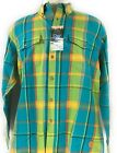 Madison Creek Outfitters Plaid Shirt Mens American Teal Long Sleeve 5075