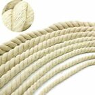 10M Cotton Rope Beige 20mm Thick Cords Bag Strap Handmade Home Decors DIY Crafts