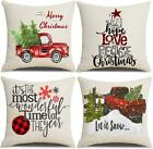 Lanpn Christmas 18X18 Throw Pillow Covers, Decorative Outdoor Farmhouse Merry Ch