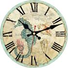 Shuaxin Wooden Antique Classic Retro 14 Inch Large Round Wall Clock,Living Room