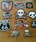 1 x BIKER SKULL ROSE TRIUMPH IRON ON or SEW PATCH, From 4cm To 9cm, Free Au Post $2.25 AUD on eBay