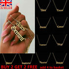12 Constellation English Letter Pendant Necklace Gold Necklace Jewelry Gift~