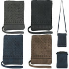 Studded Phone Crossbody Bag for Women Outside Back Pocket Fits Most Phones image
