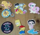 1 x BETTY BOOP, GARFIELD, PONY, BART,IRON ON PATCH, From 8cm To 14cm, Free  Post $3.0 AUD on eBay