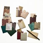 Journaling paper pockets, scrapbook accessories handmade, vintage style ephemera