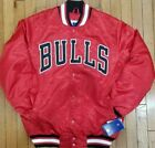 Authentic Red Chicago Bulls Starter Brand NBA Tough Seasons Satin Jacket on eBay