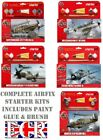 AIRFIX ICONIC AIRCRAFT 1/72 STARTER KIT SET AEROPLANE GLUE BRUSH 4 ACRYLIC PAINT