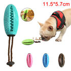 1X PET DOG PUPPY LEAKAGE FOOD RUGBY BALL SUCTION CUP ELASTIC MOLAR BITE CHEW TOY