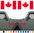 Set of 2 Canadian Flag LEFT RIGHT Side Vinyl Sticker Decal MANY SIZES COLORS $9.95 USD on eBay