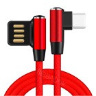 3 6 10 Ft 90 Degree Type C Cable Fast Charging Data Cord USB C Android Charger
