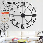 60/80cm Extra Large Outdoor Garden Roman Wall Clock Big Numeral Giant Round Face