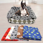 Fleece Pet Dog Blanket Warm Cat Puppy Bed Cushion Sofa Mat Sleeping Pad Washable