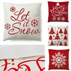 """18x18"""" Throw Pillow Covers Cases Pillowcase For Couch Home Sofa Snowflake Tree"""