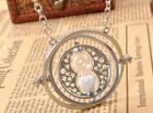 Harry Potter Time Turner Necklace Spins Granger Hourglass Hermione UK Stock