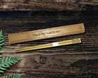 Engraved Bamboo Chopsticks with Engraved Case