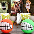 Pet Dog Ball Teeth Silicone Toy Chew Squeaker Squeaky Sound Dog Puppy Play T 9H