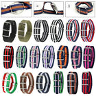 18/20/22mm Unisex Army Military Nylon Wrist Watch Band Strap Stainless Buckle image