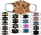 Adults Cotton Face Masks with Filter Pocket Reusable & Washable 77 Designs