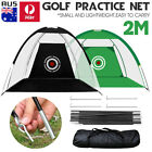 AU Foldable 2M Golf Training Cage Tent Practice Driving Chipping Hitting Net Aid