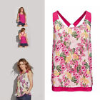 AVON Ladies Womens Floral Flower Print Reversible Ring Back Vest Top Size 18 20