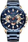 Mens Watches Chronograph Quartz Calendar Waterproof Military Stainless Steel  image