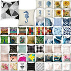 Geometric Simple Pillow Cases Sofa Seat Cushion Covers Home Bedroom Bench Decor