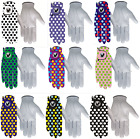 "Golf Gloves 100% LEATHER Glove ""SPOTTY"" Mens or Ladies, Right or Left Hand"